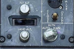 The cabin pressure control switch which was retrieved from the crash site.