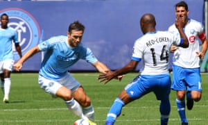 Frank Lampard takes on Montreal's Nigel Reo-Coker.