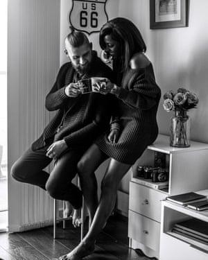 couple drink tea