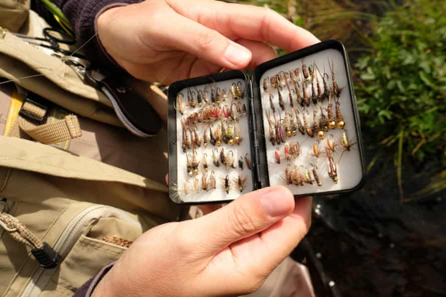 Alvdalen, Sweden: 'flies' are tiny lures meant to resemble insects that will hopefully attract a fish to the line. Many anglers make their own. Their composition and design is equal parts art, science and hunch.