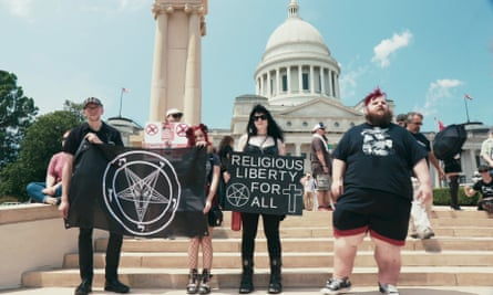 Supporters of The Satanic Temple at the rally for religious liberty in Little Rock featured in Hail Satan?