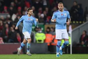 Silva celebrates getting one back for City.