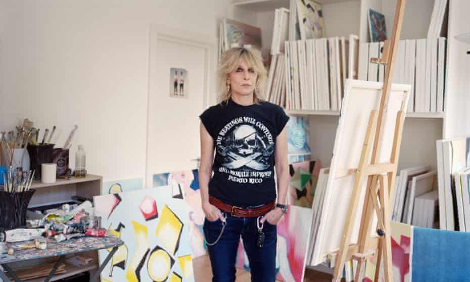 Chrissie Hynde at her London studio.