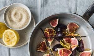 Fig, vanilla and orange blossom jam ingredients