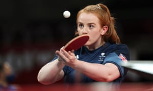 Megan Shackleton in action against Bian Zhang of China.
