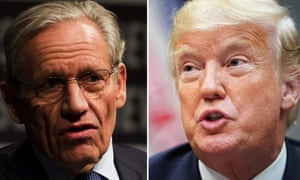 Composite image: Bob Woodward (left) and Donald Trump (right)