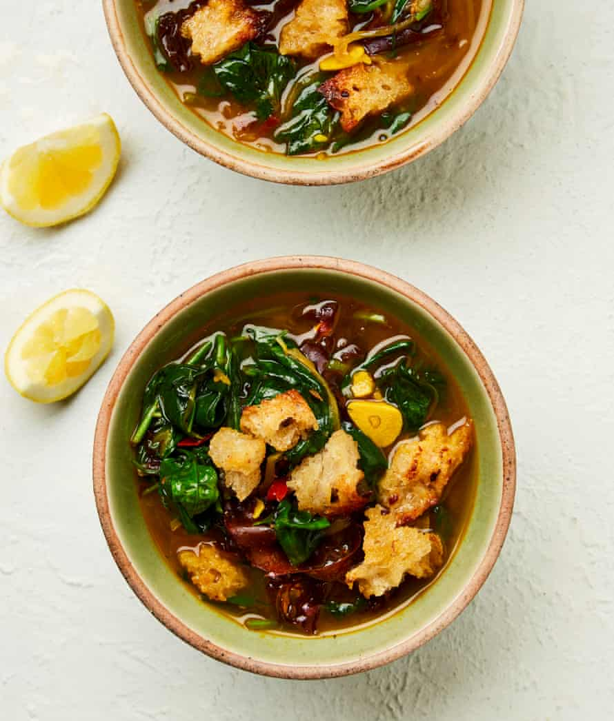 Yotam Ottolenghi's spinach and dulse soup