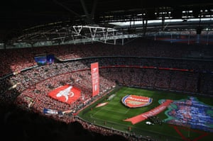It's a packed house at Wembley.