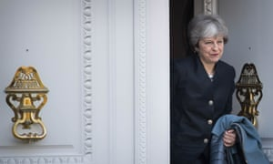 Theresa May leaves Brussels