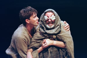 David Tennant as Edgar and David Ross as the Earl of Gloucester in Hersov's King Lear in 1999.