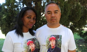 Mery Cortéz and Eric Villalobos, whose son Romario Veloz was shot dead by Chilean troops during recent protests in 2019.