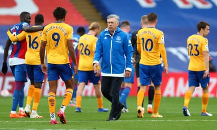 Carlo Ancelotti after Everton's game at Crystal Palace