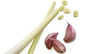 Lemongrass and garlic