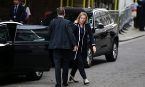 Home Secretary Amber Rudd arrives at Downing Street in central London ahead of an emergency meeting of the Cobra committee.