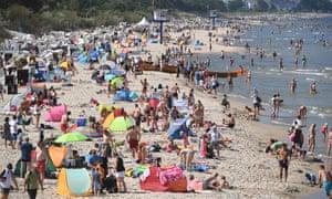 Heringsdorf beach on Usedom in July