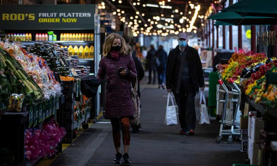 People returned to the South Melbourne Market in late June as Covid-19 restrictions were eased