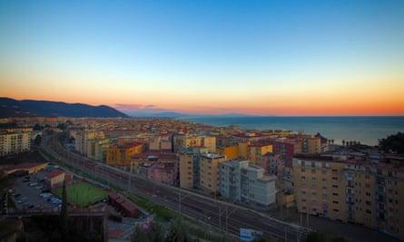 Salerno, on the Naples-Palermo line.