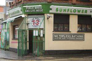 Exterior of The Sunflower Bar in Belfast, Northern Ireland
