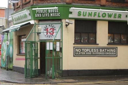 Exterior of The Sunflower Bar in Belfast, Northern Ireland