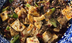 'The most comforting of fearsome-looking dishes': mapo tofu.