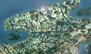 An artist's impression of Lantau Tomorrow Vision