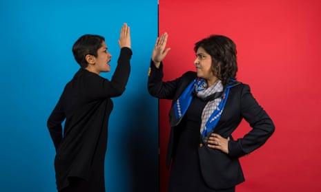 Labour Baroness Shami Chakrabarti and Conservative Baroness Sayeeda Warsi.