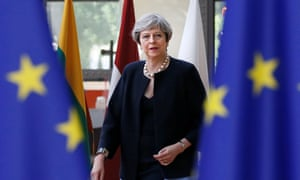 Theresa May arrives at the Brussels summit last week.