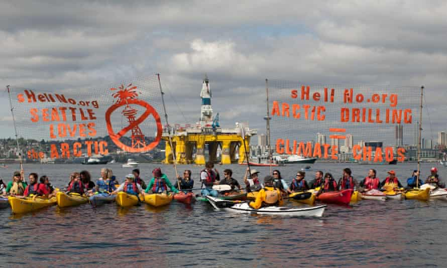 ShellNo flotilla protesters.