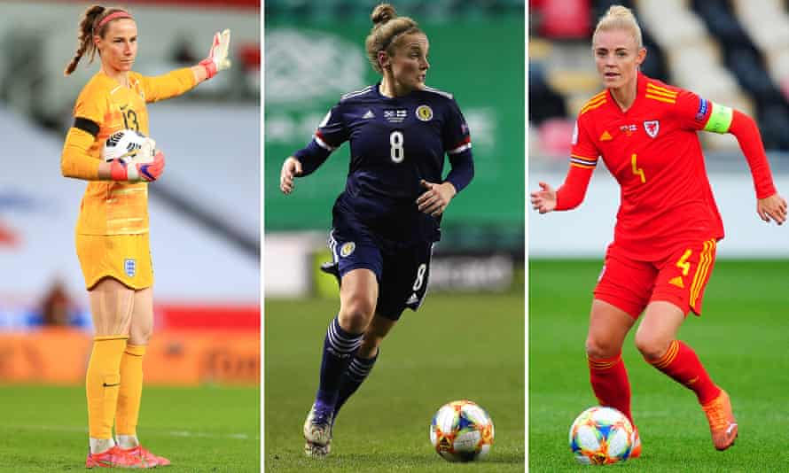 The England goalkeeper Karen Bardsley, Scotland's Kim Little and Sophie Ingle of Wales are in the squad for the Tokyo Olympics.