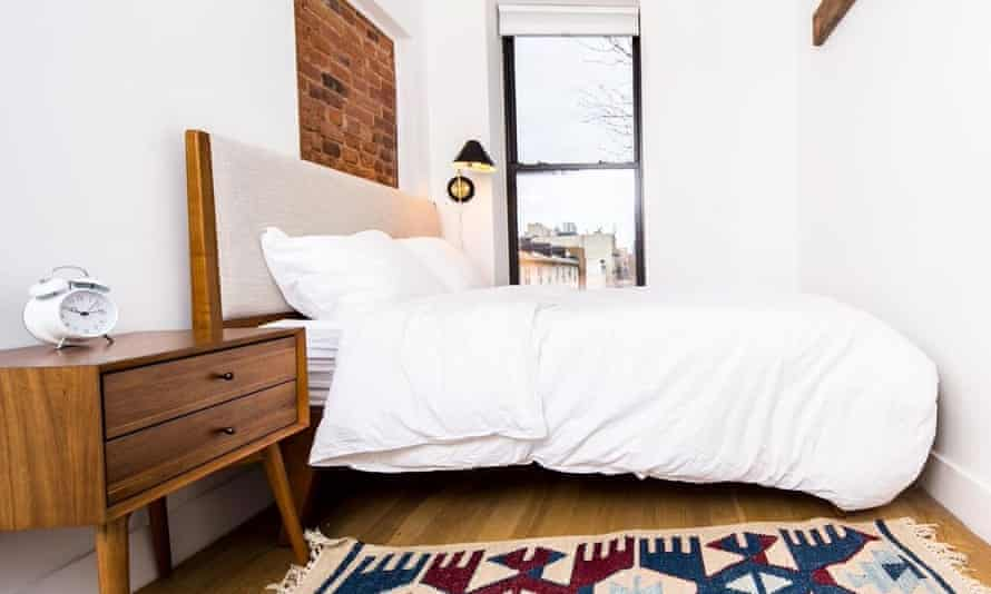 A bedroom at Common building in Crown Heights, Brooklyn.