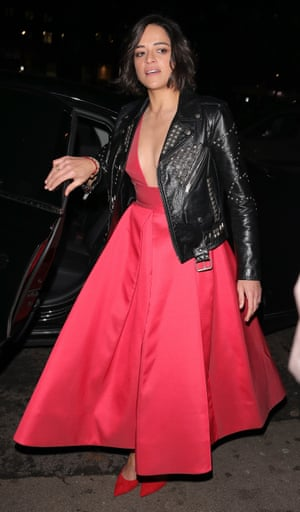 Michelle Rodriguez attending the Vogue Bafta after part