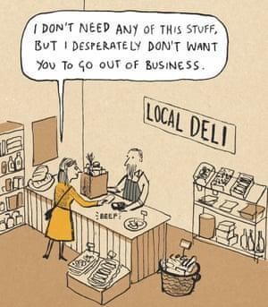 Berger & Wyse on shopping locally – cartoon