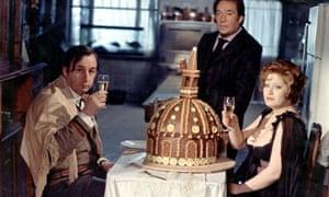 A right mouthful … Phillippe Noiret, Ugo Tognazzi and Andrea Ferreol in La Grande Bouffe.