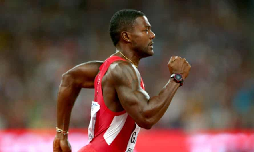 If Ed Warner's proposal had been put into effect in 2015 then the men's 100m world record would be held by the controversial American sprinter Justin Gatlin, above, who was banned for four years in 2006.