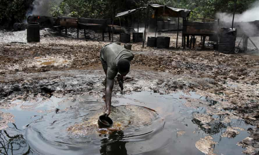 polluted water in Nigeria's Niger delta