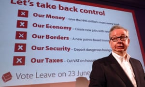 Michael Gove at a Vote Leave rally this month.
