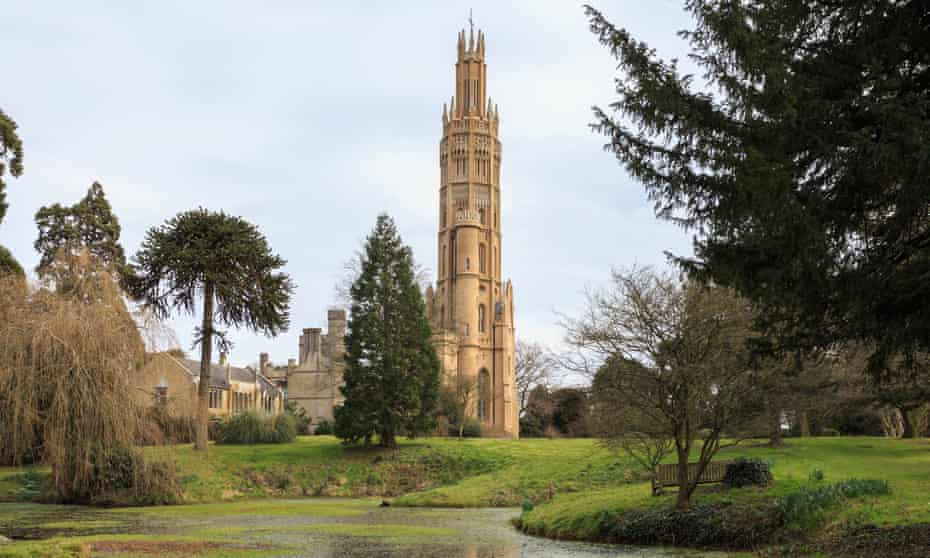 The UK's highest folly, Hadlow Tower near Tonbridge in Kent
