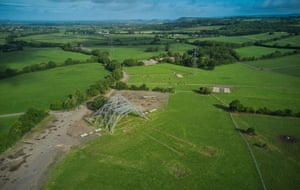 The skeleton of the Pyramid Stage, 2020The 50th aniversary Glastonbury Festival was due to take place this week from Wednesday 24th - Monday 29th June but was cancelled due to the UK Coronavirus lockdown