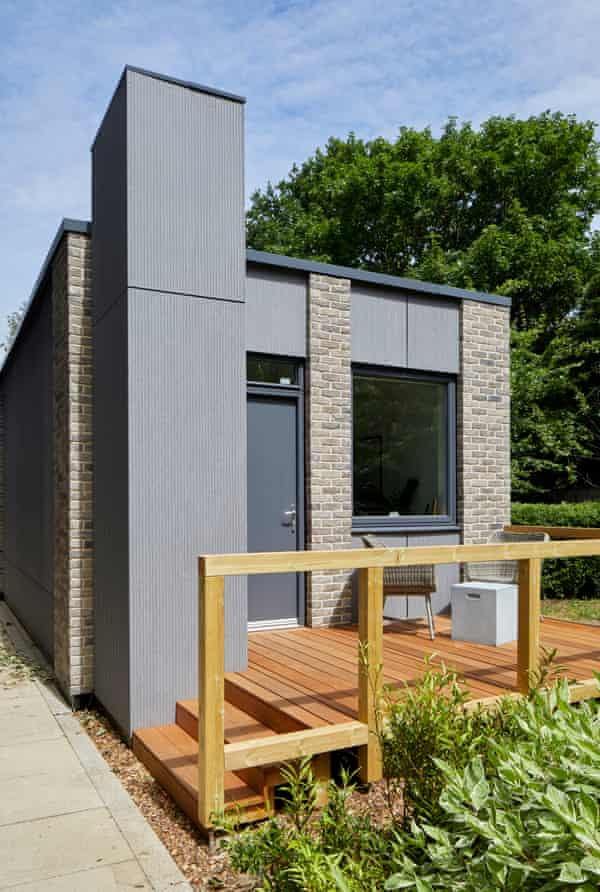 a LaunchPod prefabricated home made in Legal & General's Leeds factory.