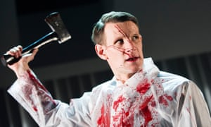 Finely chopped ... Matt Smith as Patrick Bateman in the Almeida Theatre's adaptation of American Psycho.