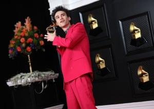 Jacob Collier after winning the Grammy for best arrangement, instruments and vocals