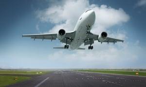 Airplane Landing, Photomontage, Colour Adjustment