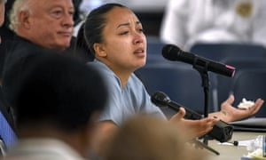 Cyntoia Long-Brown in court during her clemency hearing.