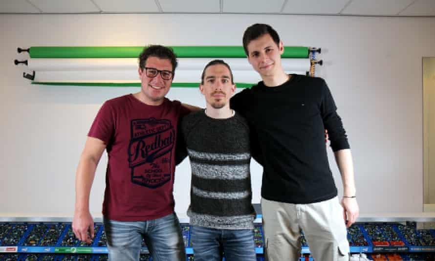 Dion Bakker, Jelle Bakker and Anton Weber of Jelle's Marble Runs.