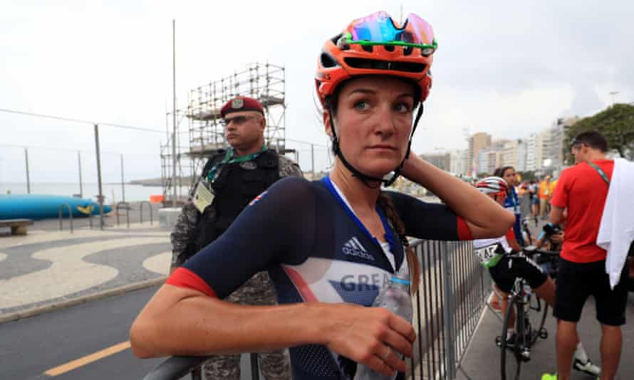 Lizzie Armitstead following the Women's Road race at the Rio Olympics.