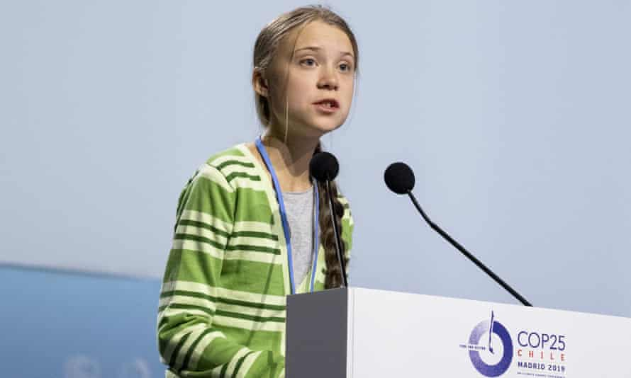 Greta Thunberg at the COP25 Climate Conference in Madrid