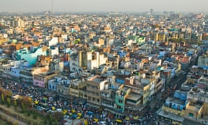 An aerial view of Delhi