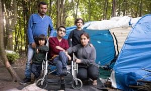 Iranian family (l-r) Sahid Rebaz, Yousef Rebaz, three, Amal Muhammed, Deia Rebaz, 10 and Sardan Muhammed, 22.