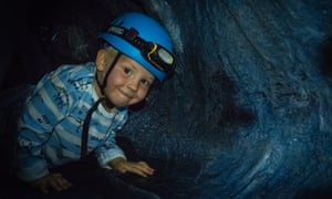 An artificial caving course is part of the Adrenaline Indoors experience at Adventure Parc Snowdonia, north Wales, UK.