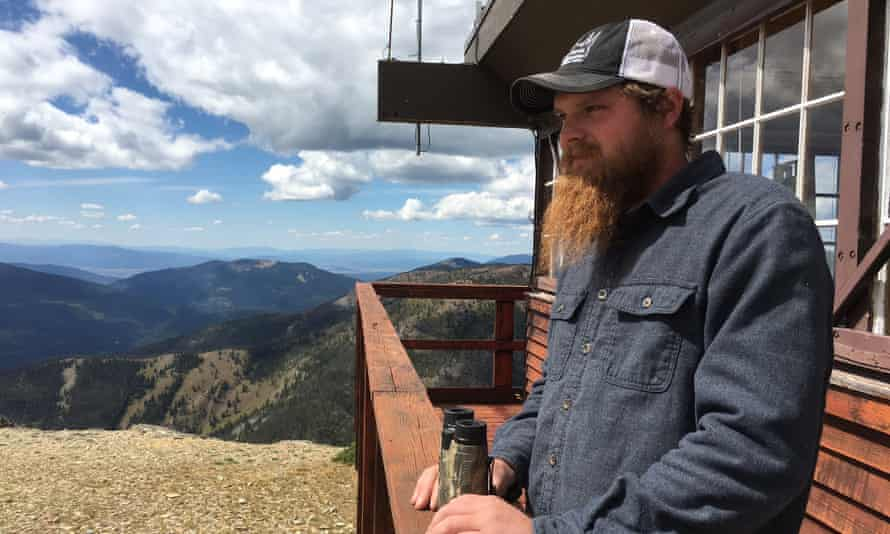 Levi Brinegar at the Stonewall fire lookout in Montana's Helena-Lewis and Clark national forest.